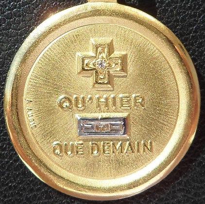 VINTAGE '+ QU'HIER - QUE DEMAIN ' THE 60'S CHARM PENDANT SIGNED A.AUGIS