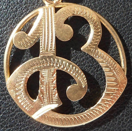 VINTAGE LUCKY CHARM / NUMBER 13 PENDANT, THE 50S