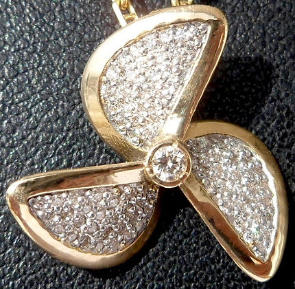 VINTAGE FRENCH ' PROPELLER ' THE 90'S CHARM PENDANT