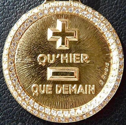 '+ QU'HIER - QUE DEMAIN ' THE 90'S CHARM PENDANT SIGNED A.AUGIS