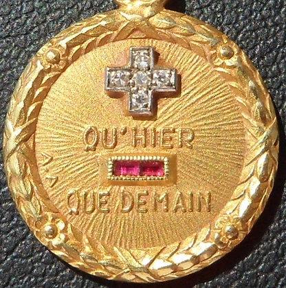 '+ QU'HIER - QUE DEMAIN ' THE 50'S CHARM PENDANT SIGNED A.AUGIS