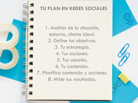 ¿Tienes un plan para redes sociales?