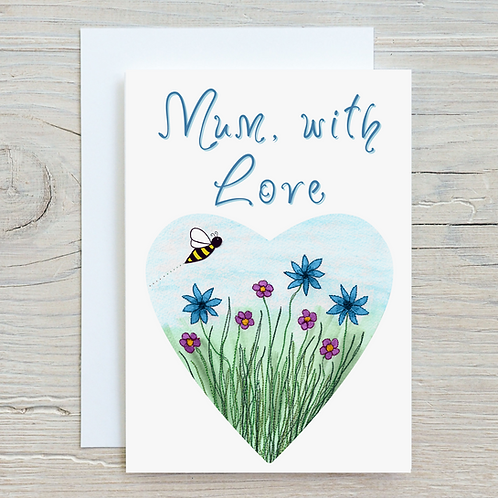 Mum with Love Greetings Card A5