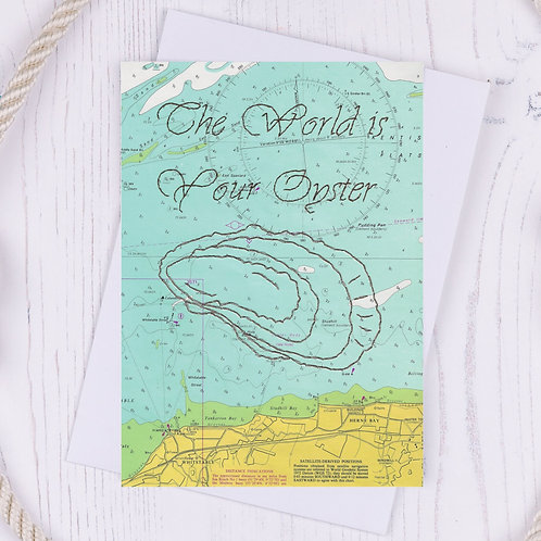 The World is your Oyster Greetings Card