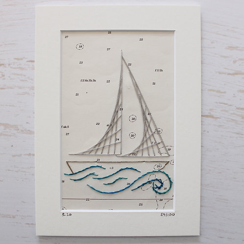 Limited Edition 5x7 Inch Sailing Boat 59/100