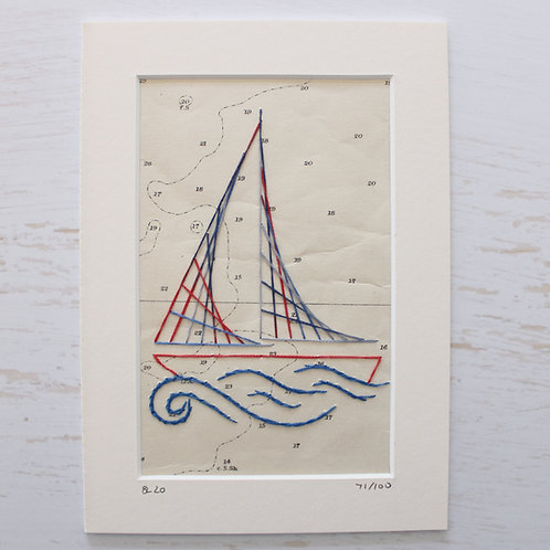 Limited Edition 5x7 Inch Sailing Boat 71/100