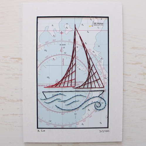 Limited Edition 5x7 Inch Sailing Boat 32/100