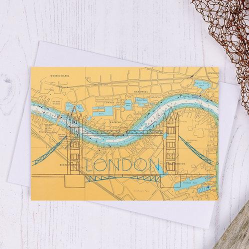 Tower Bridge London Greetings Card - A6