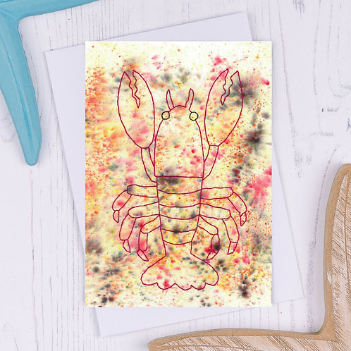 Lobster Greetings Card - A6