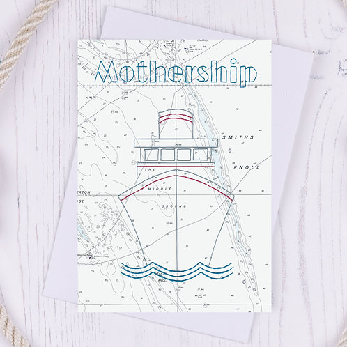 Mothership Greetings Card - A6