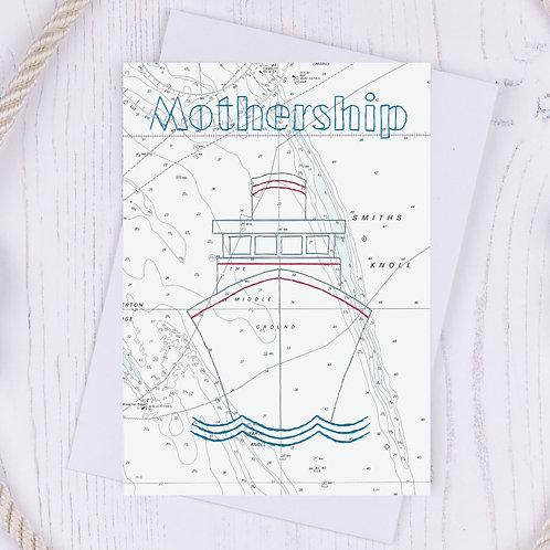 Mothership Greetings Card