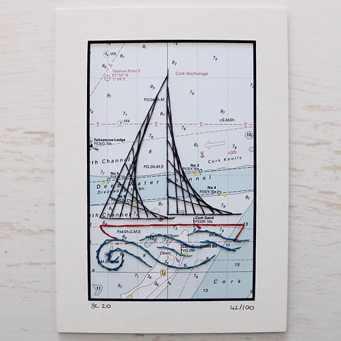 Limited Edition 5x7 Inch Sailing Boat 42/100