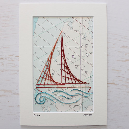 Limited Edition 5x7 Inch Sailing Boat 20/100