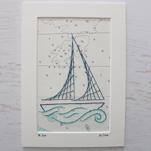 Limited Edition 5x7 Inch Sailing Boat 51/100