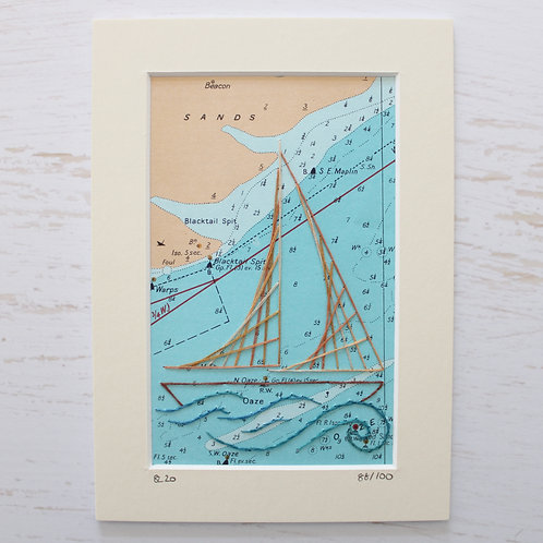 Limited Edition 5x7 Inch Sailing Boat 88/100