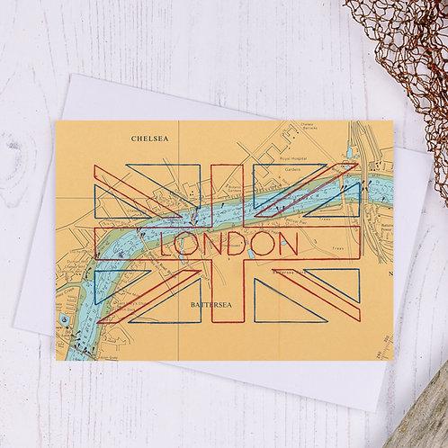 Union Jack London Greetings Card - A6