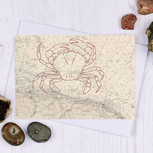 Cromer Crab Greetings Card