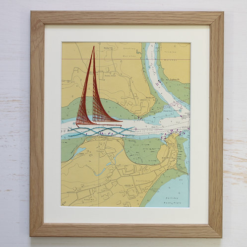 Shotley Mounted Original 12x10 Unframed