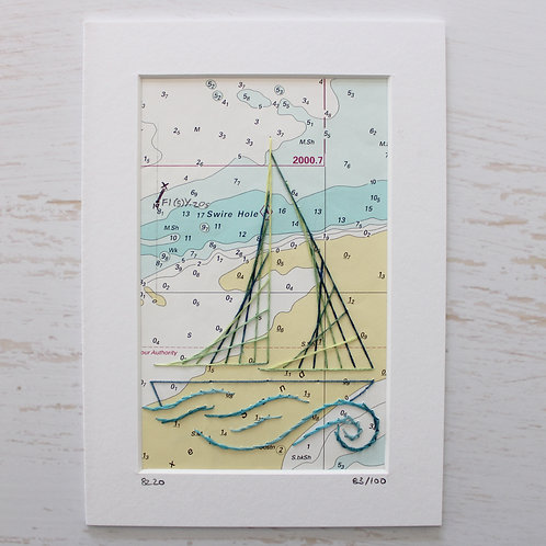 Limited Edition 5x7 Inch Sailing Boat 83/100