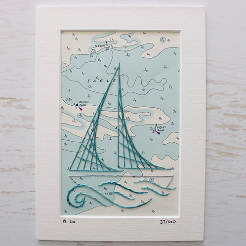 Limited Edition 5x7 Inch Sailing Boat 37/100