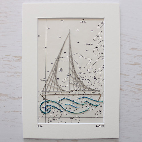 Limited Edition 5x7 Inch Sailing Boat 60/100