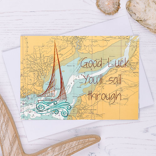 Good Luck You'll Sail Through Greetings Card - A6