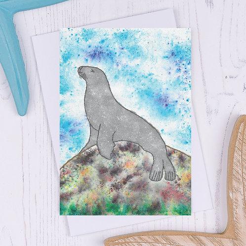 Seal Greetings Card