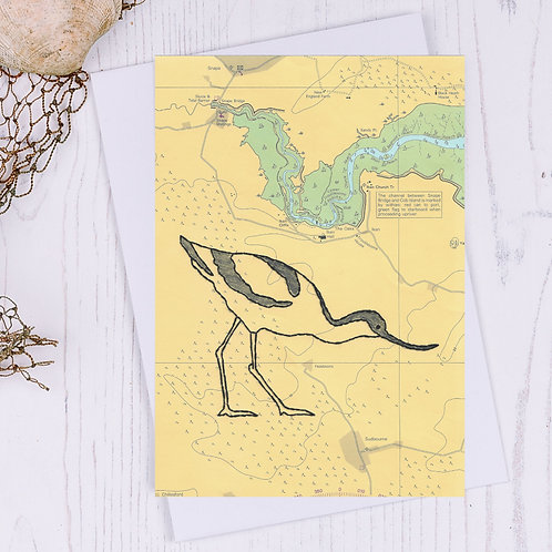 Snape Avocet Greetings Card - A6