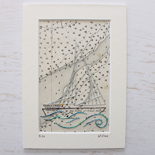 Limited Edition 5x7 Inch Sailing Boat 67/100
