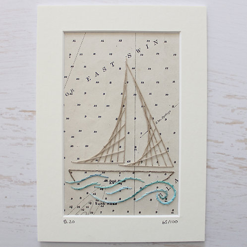 Limited Edition 5x7 Inch Sailing Boat 65/100