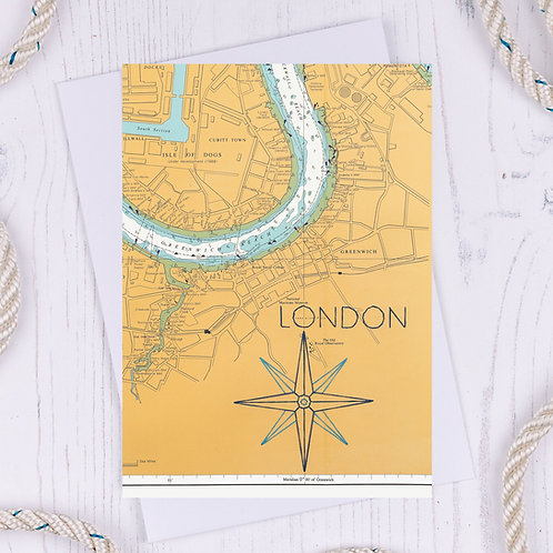 Compass London Greetings Card