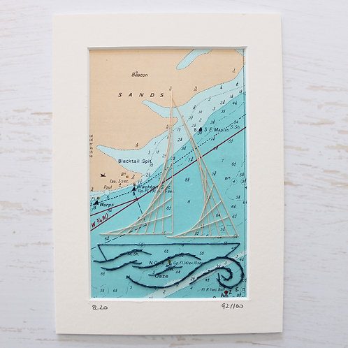 Limited Edition 5x7 Inch Sailing Boat 92/100