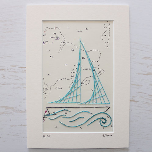 Limited Edition 5x7 Inch Sailing Boat 93/100