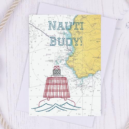 Nauti Buoy Greetings Card