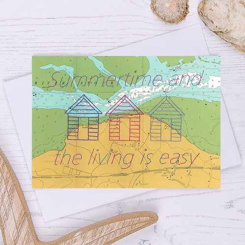 Summertime and the Living is Easy Greetings Card - A6