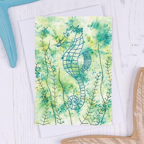 Seahorse Greetings Card - A6