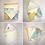 Thumbnail: Handmade C6 envelopes, made from original nautical navigation charts, packs of 6