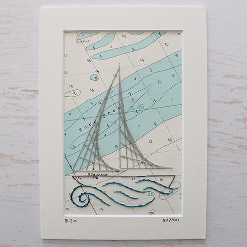 Limited Edition 5x7 Inch Sailing Boat 84/100