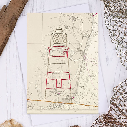 Orford Lighthouse Greetings Card - A6