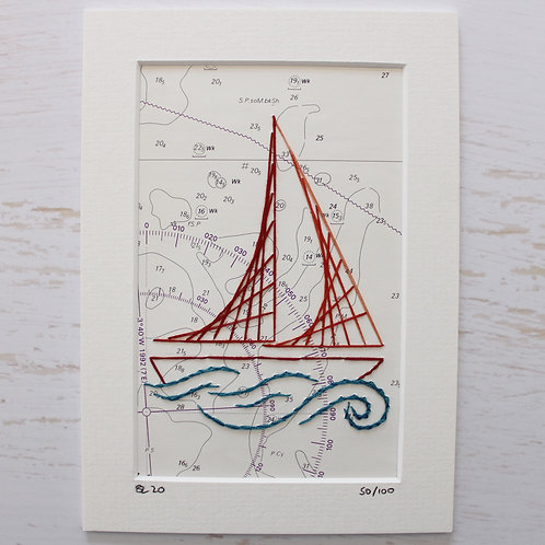 Limited Edition 5x7 Inch Sailing Boat 50/100