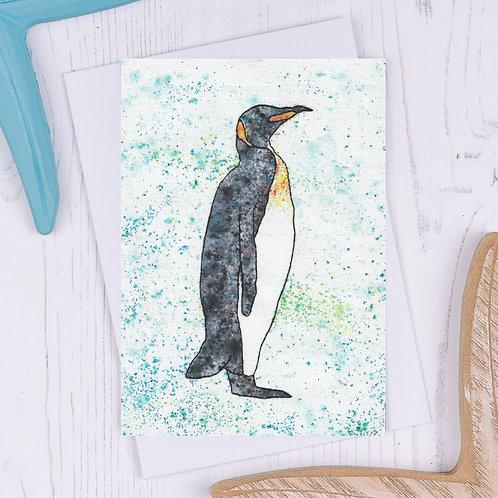King Penguin Greetings Card