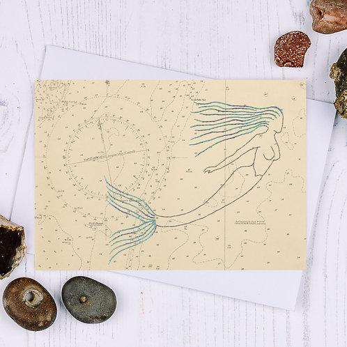 Mermaid Greetings Card - A6