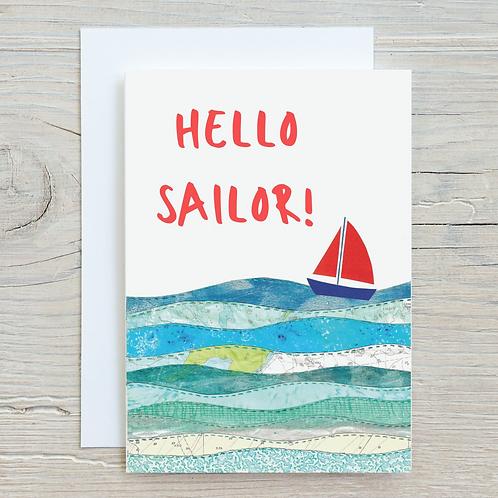 Hello Sailor Card - A5