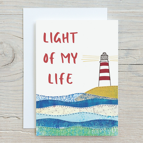 Light of my life Card - Can be personalised A5