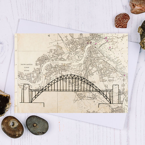 Tyne Bridge Greetings Card - A6