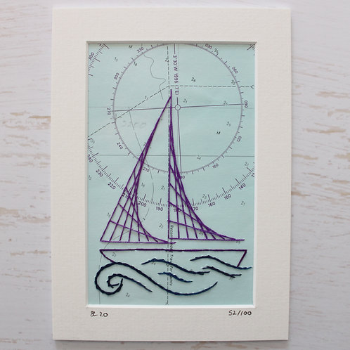 Limited Edition 5x7 Inch Sailing Boat 52/100