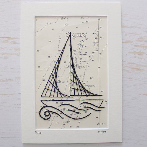 Limited Edition 5x7 Inch Sailing Boat 12/100