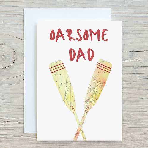 Oarsome Dad Card - Can be personalised A5