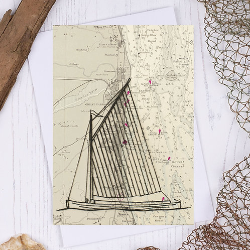 Norfolk Wherry Greetings Card - A6