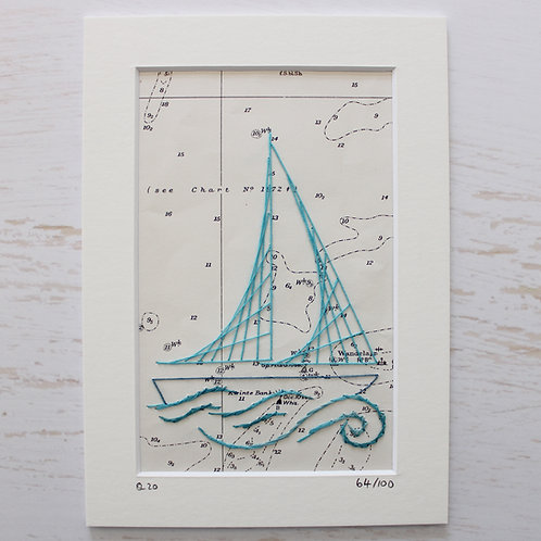 Limited Edition 5x7 Inch Sailing Boat 64/100